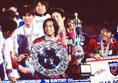 【4冠】1998年/Jリーグ/前年に続き磐田とのチャンピオンシップ決戦。2試合合計4-2と宿敵を抑え込み、優勝を果たす(第1戦:磐田1-2鹿島、鹿島2-1磐田)|写真:サッカーダイジェスト