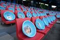 【PHOTO】サポーターの顔写真が貼られたフロ桶|写真:山崎賢人(サッカーダイジェスト写真部)