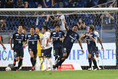 【J1第9節PHOTO】G大阪 2-1 横浜FC|引き分け濃厚のATにドラマが待っていた。パトリックがチームを勝利へと導く大仕事をやってのけた。写真:徳原隆元