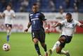 【J1第9節PHOTO】G大阪 2-1 横浜FC|アデミウソン(9番)は34分に先制ゴールをマーク。写真:徳原隆元