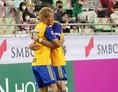 【J1第9節PHOTO】神戸1-2仙台|72分、交代したばかりの赤﨑が決勝ゴールを決める。写真:田中研治