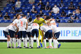 【J1第13節PHOTO】G大阪1-3FC東京|FC東京の円陣|写真:金子拓弥(サッカーダイジェスト写真部)