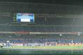 【PHOTO】試合前に大雨が降った日産スタジアム|写真:山崎賢人(サッカーダイジェスト写真部)