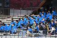 【選手権神奈川予選PHOTO】横浜創英0-1桐蔭学園|桐蔭学園を後押しする部員|写真:金子拓弥(サッカーダイジェスト写真部)