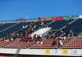 【高校サッカー選手権1回戦PHOTO】東海学園0-2明徳義塾|明徳義塾の応援席|写真:榎本誉士