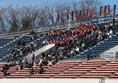 【高校サッカー選手権1回戦PHOTO】東海学園0-2明徳義塾|東海学園の応援席|写真:榎本誉士