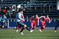 【高校サッカー選手権1回戦PHOTO】日大山形1(3PK5)1近江|8分、PKを決める那須日夏留|写真:滝川敏之