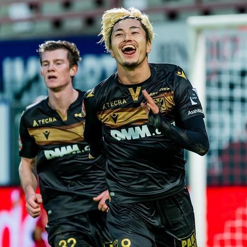 絶好調!STVV鈴木優磨が2試合連続2ゴール!