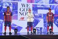 【FC東京新体制PHOTO】2021年シーズンのユニホームが発表された。 写真:塚本凜平(サッカーダイジェスト写真部)