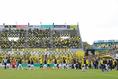 【J1第9節PHOTO】柏1-0G大阪|ピッチに入場する両チームの選手たち。|写真:塚本凜平(サッカーダイジェスト写真部)