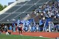 【J2第17節PHOTO】秋田1-1琉球 両チームの入場。写真:滝川敏之