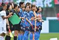 整列する選手たち|写真:金子拓弥(サッカーダイジェスト写真部/JMPA代表撮影)