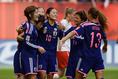 [GL第1戦/日本 1-0 スイス]安藤が獲得したPKを宮間が決め、先制に成功。この1点を守り切り白星スタートを切った。(C) Getty Images